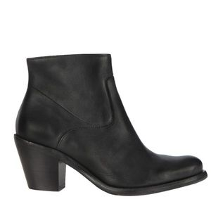 All Saints Hessian Low Leather Ankle Boot Black